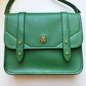 Anne Klein Green Crossbody Leo Vegan Leather Bag
